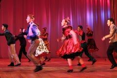 Adolescentes del baile Foto de archivo libre de regalías