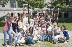 Adolescentes del día de Canadá Fotos de archivo