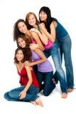 Adolescentes diversos Imagen de archivo libre de regalías