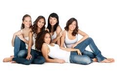 Adolescentes diversos Fotografía de archivo
