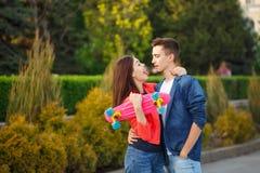Adolescentes el fecha Primer amor Fotos de archivo