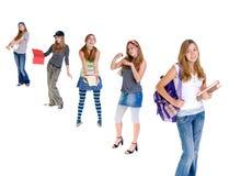 Adolescentes em mudança imagens de stock royalty free