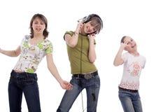 Adolescentes em um disco fotos de stock