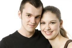 Adolescentes en amor Fotografía de archivo libre de regalías