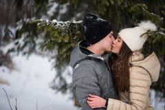 Adolescentes en amor que se besan Fotos de archivo libres de regalías