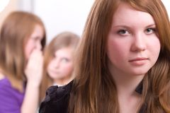 Adolescentes en crisis Fotografía de archivo