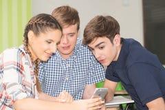 Adolescentes en el collage Imagen de archivo libre de regalías