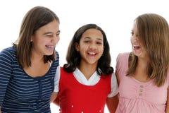 Adolescentes en el fondo blanco Fotografía de archivo libre de regalías