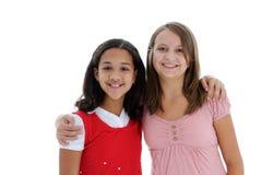 Adolescentes en el fondo blanco Imágenes de archivo libres de regalías