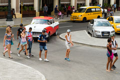 Adolescentes en La Habana Foto de archivo libre de regalías