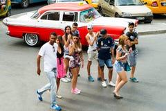 Adolescentes en La Habana Imagenes de archivo