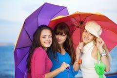 Adolescentes en otoño Foto de archivo