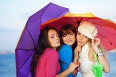Adolescentes en otoño Imagen de archivo