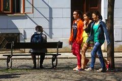 Adolescentes en Praga Fotografía de archivo libre de regalías