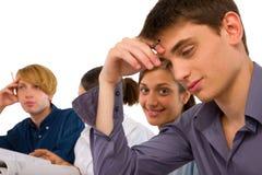 Adolescentes en sala de clase Imagen de archivo