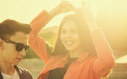 Adolescentes enamorados Imagen de archivo libre de regalías