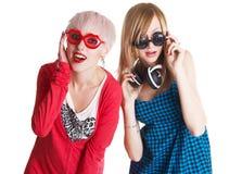 Adolescentes encantadores que se divierten junto Imagen de archivo libre de regalías