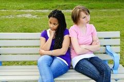 Adolescentes ennuyées Photos libres de droits