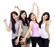 Adolescentes felices Imágenes de archivo libres de regalías