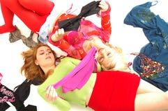Adolescentes felices coloridos 9 Imagen de archivo libre de regalías