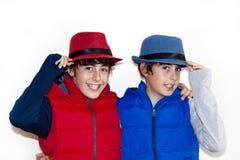 Adolescentes felizes com Autumn Clothes Foto de Stock Royalty Free