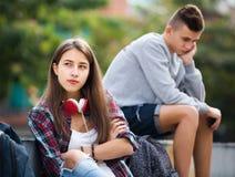 Adolescentes frustrados después de la pelea Fotos de archivo libres de regalías