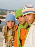 Adolescentes hermosos del grupo Imágenes de archivo libres de regalías