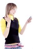 Adolescentes móveis Fotografia de Stock