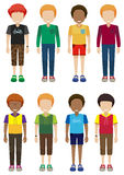 Adolescentes masculinos sem cara Fotos de Stock Royalty Free