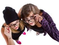 Adolescentes nerdy jovenes Imagenes de archivo