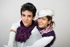 Adolescentes no amor imagem de stock