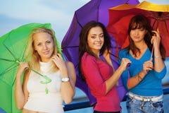 Adolescentes no outono Imagens de Stock Royalty Free