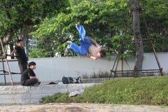 Adolescentes para practicar artes marciales en SHENZHEN Imagen de archivo