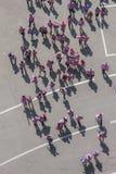50 000 adolescentes participam em uma cerimônia religiosa no estádio de San Siro em Milão, Itália Imagens de Stock Royalty Free
