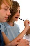 Adolescentes que estudian junto Foto de archivo libre de regalías