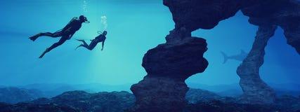 Adolescentes que nadan stock de ilustración