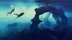 Adolescentes que nadan Fotos de archivo libres de regalías