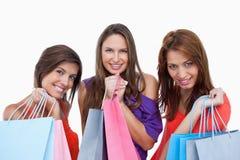 Adolescentes que se vuelven orgulloso de compras Fotografía de archivo
