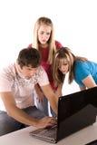 Adolescentes surpreendidos Foto de Stock Royalty Free