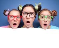 Adolescentes surpreendidos Imagem de Stock