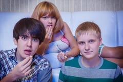 Adolescentes surpreendidos Fotos de Stock Royalty Free