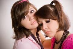 Adolescentes tristes de las muchachas Imagenes de archivo