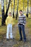 Adolescenti esterni Fotografie Stock