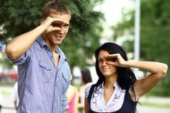 Adolescenti felici Immagine Stock Libera da Diritti