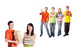 Adolescenti isolati su bianco Fotografia Stock Libera da Diritti