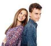 Adolescenti isolati su bianco Fotografia Stock