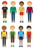 Adolescenti maschii anonimi Fotografie Stock Libere da Diritti