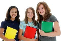Adolescenti su priorità bassa bianca Immagine Stock Libera da Diritti