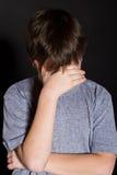 Adolescentie hoofdpijn Stock Foto's