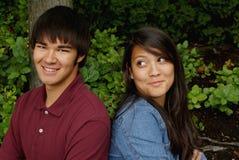 Adolescents flirtant Image libre de droits